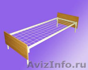 кровати одноярусные с деревянными спинками, кровати двухъярусные металлические - Изображение #3, Объявление #700285