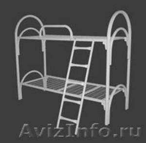 кровати одноярусные с деревянными спинками, кровати двухъярусные металлические - Изображение #1, Объявление #700285