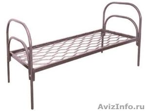 кровати одноярусные с деревянными спинками, кровати двухъярусные металлические - Изображение #4, Объявление #700285