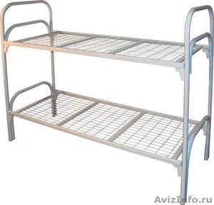 Кровати одноярусные металлические, кровати металлические двухъярусные, дёшево - Изображение #1, Объявление #1478867