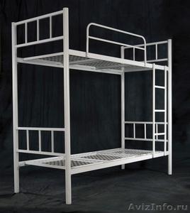 Кровати одноярусные металлические, кровати металлические двухъярусные, дёшево - Изображение #2, Объявление #1478867