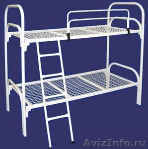 Кровати одноярусные металлические, кровати металлические двухъярусные. оптом. - Изображение #2, Объявление #1479538
