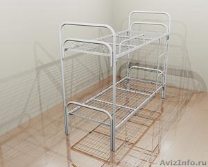 Кровати металлические для турбаз, кровати для гостиницы, двухъярусные, оптом. - Изображение #1, Объявление #1479822