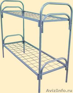 Кровати металлические двухъярусные, кровати для рабочих, кровати по низкой цене - Изображение #3, Объявление #1480300
