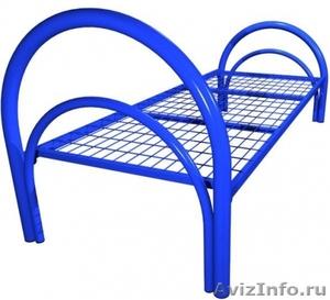 Кровати металлические двухъярусные, кровати для рабочих, кровати по низкой цене - Изображение #1, Объявление #1480300