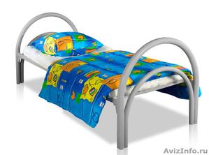 Кровати одноярусные металлические, кровати металлические двухъярусные, дёшево - Изображение #5, Объявление #1478867