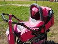 Коляска-трансформер Богус 3 ярко-розового цвета